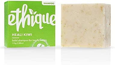 Ethique Dandruff Shampoo Bar for Itchy Scalps, Heali Kiwi - Sustainable Natural Anti-Dandruff Shampoo, Plastic Free, pH Balanced, Vegan, Plant Based, Eco-Friendly 100% Compostable & Zero Waste, 3.88oz