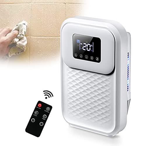 SXJXB Deumidificatore Ambiente Casa con Telecomando, Portatile LED Schermo Compatto Umidostato, Auto Spegnimento E Timer 24 Ore Silenzioso Deumificatori per Muffa E umidità