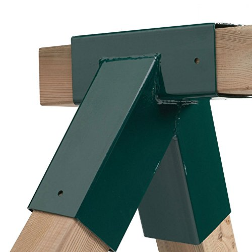 Wickey - Giunto per altalena ad incastro per travi in legno rettangolari, modello angolare a 90° per travi da 90/90mm