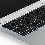 Lacerto® | 14x14mm Deutsche Tastaturaufkleber für MacBook und Mac-Tastaturen, mit mattem Schutzlaminat | Germany Stickers for MAC Keyboard QWERTZ | Farbe: Schwarz