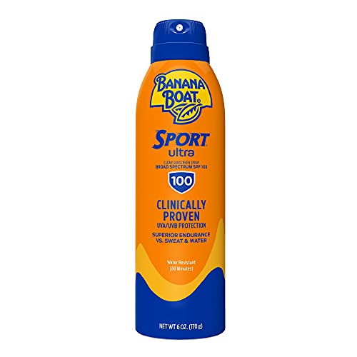 Banana Boat Ultra Sport Sunscreen Spray, New Formula, SPF 100, 6 Ounces (00079656030594)