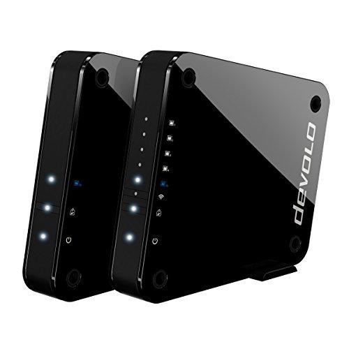 devolo GigaGate WLAN Starter Kit (2 Gbit/s Verbindung, 1x Highspeed Gigabit Port, 4x Fast Ethernet Ports, Punkt-zu-Punkt-Verbindung per 5GHz-Band, Highend-Multimedia-Erlebnis, AES Verschlüsselung)