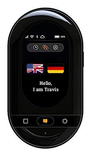 Travis Touch Plus - Traduttore Smart con 105 Lingue, Schermo Touch, 4G LTE, Hotspot, Ricarica Wireless (Bianco)