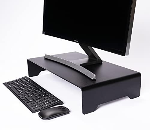 ECHTSTAHL Supporto per monitor di design di alta qualità, realizzato in acciaio verniciato a polvere di alta qualità, rialzo dello schermo, adatto per iMac, Dell, Lenovo, HP, Laptop, TV, PC.