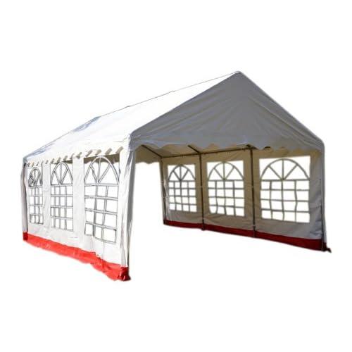 Seitenteile 180g//m² Carport B-Ware Festzelt Pavillon PE wasserdicht 4x6 m weiß