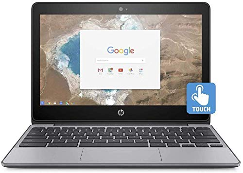 """2018 HP 11.6"""" HD IPS Touchscreen Chromebook with 3x Faster WiFi - Intel Dual-Core Celeron N3060 up to 2.48 GHz, 4GB Memory, 16GB eMMC, HDMI, Bluetooth, USB 3.1, 12-Hours Battery Life (Renewed)"""