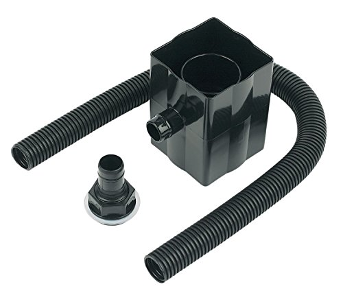 FloPlast RVS1B RVS1B-Black Rainwater Diverter (Conects to 65MM Square and 68MM Round Downpipe), Black