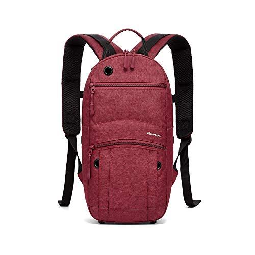 iGuerburn Rucksack für Sauerstoffflasche O2 Sauerstoff Tank Tasche Träger für Größe 0,3 Liter 0.8 Liter 1 Liter M2, A / M4, ML6, B / M6, M7, C / M9 -Zylinder (rot)