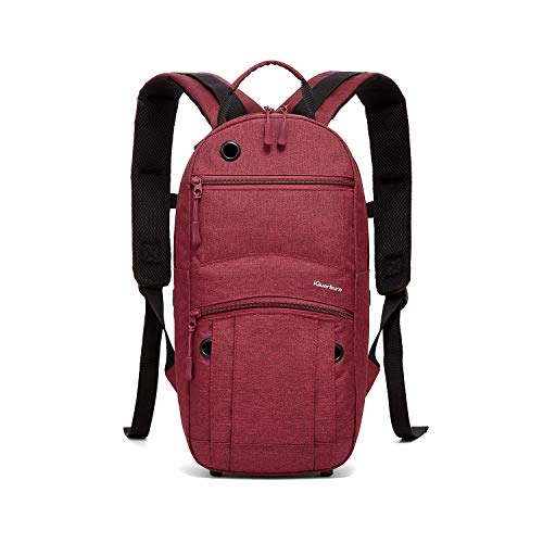 iGuerburn Oxygen Tank Backpack Portable Oxygen Cylinder Carrying Carrier Bag Medical O2 Tank Holder for Size M2, A/M4, ML6, B/M6, M7, C/M9 (Do not fit'D' Tanks)-Red