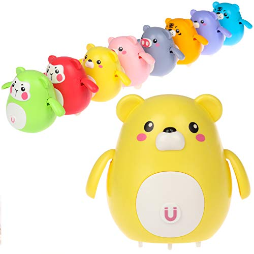Cute Walking Swinging Toy for Kids, Electric Swing Magnetic Bear Toy Lovely Rocking Toys Swing Squad Can Fixed-Point Winding Design