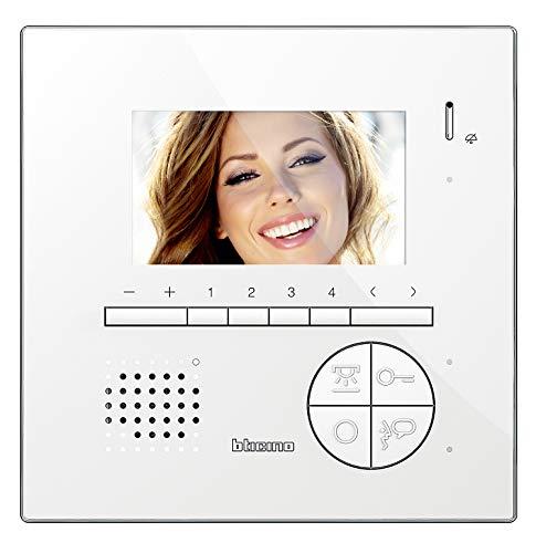 Bticino 344522 Videocitofono 2 Fili Vivavoce a Colori con Teleloop, Bianco