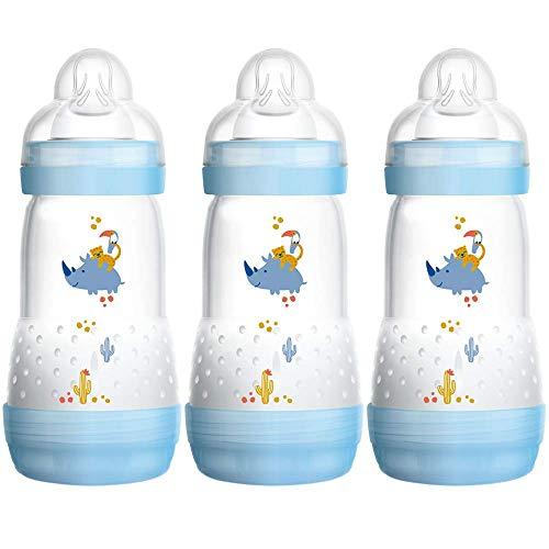 MAM - Anti Colic Flaschen 260ml Dreierpack für Jungen incl. Sauger Gr. 2