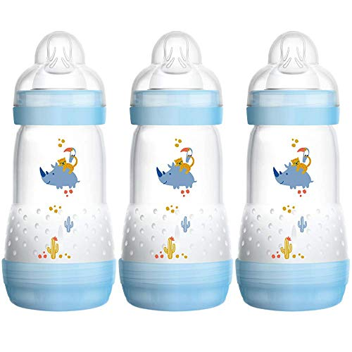 MAM Easy Start Self Sterilising Anti-Colic Baby Bottle 3 Pack, 260 ml with...