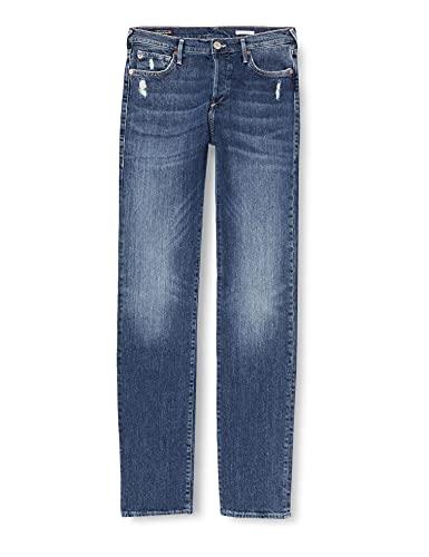 True Religion Damen Highrise Turnup Straight Jeans, Blau (Blue Denim 4646), 24W / 32L