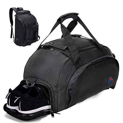 Alterego Gym - Travel - Sports - Holdall Bag with Backpack Handles and Shoes Compartment. Suitable for both Men and Women (35 L)