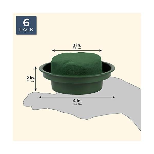 Suministros para Arreglos Florales – Paquete de 6 espumas redondas para arreglos florales en un diseño único de cuenco