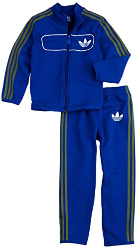 adidas I Street Diver Baby Infants Originals Firebird Tracksuit Trainingsanzug Blau, Grösse:D/74 - UK/6-9M - US/9M - FR/6-9M