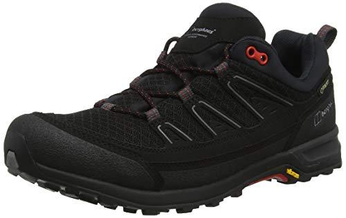 Berghaus Explor Active Gore-tex Shoe, Chaussures de Randonnée Basses Homme, Noir (Black/Red B59), 40.5 EU