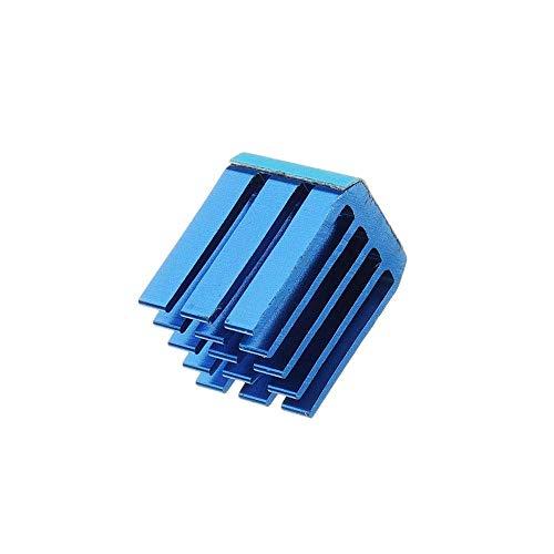 GNLIAN HUAHUA Step Motor Controller Computer Accessories, Black or Blue 4PCS TMC2100 Stepper Motor Driver Cooling Heatsink with Back Glue for 3D Printer (Color : Blue)