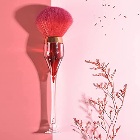 YBLS Albuquerque Mall Single Factory outlet Brush Red Wine Profess Glass Powder Foundation