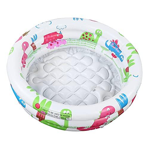 KXIUOA Piscina Inflable, Piscina de PVC, bañera para niños, patrón de Dinosaurio de Dibujos Animados, bañera Inflable de PVC Redonda para Piscina para niños