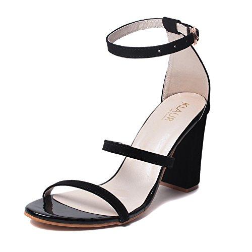 Klaur Melbourne Women's Black Fashion Sandals - 38 Eu