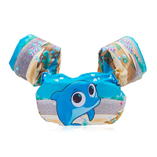 FOCHEA Schwimmflügel Baby, Baby Schwimmring Schwimmhilfe für Kinder und Kleinkinder von 2-6 Jahre, 14-25kg(Blau)
