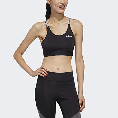 adidas Design 2 Move Bra Top Sujetadores Deportivos, Mujer, Carbon/Negro, M/Alto