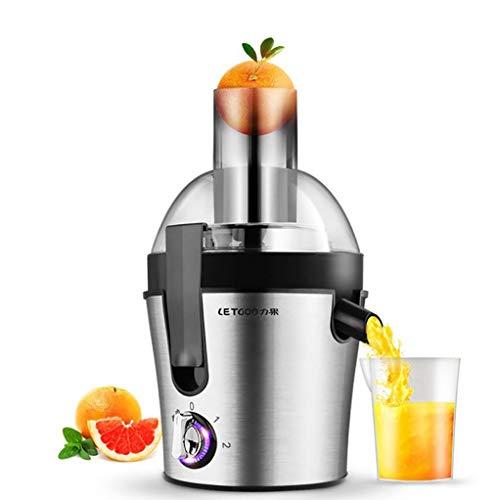 300 W Licuadora para Frutas y Verduras,Slow Juicer Inoxidable, 1.5 litros, 2 Velocidades,Libre de BPA
