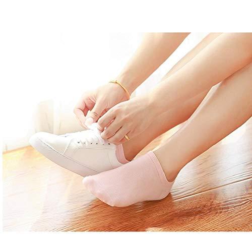 GangKun Calcetines, calcetines femeninos, algodón, desodorante, damas, calcetines de algodón, primavera, otoño, modelos, boca baja, calcetines, otoño e invierno femeninos, lindos@Blanco