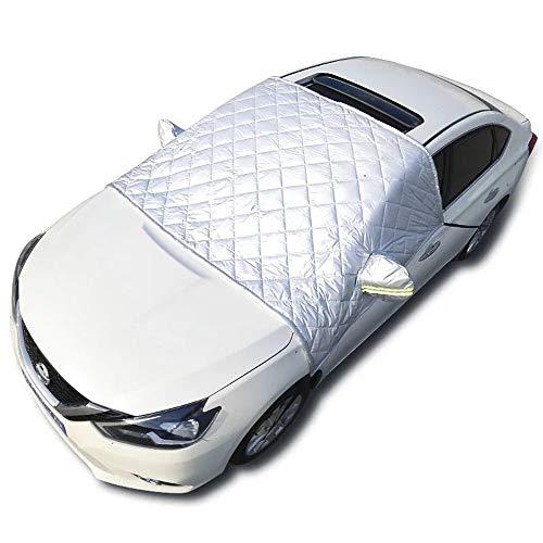 EXQUILEG Faltbare Abnehmbare Windschutzscheibe Abdeckung,Frontscheibenabdeckung Auto...
