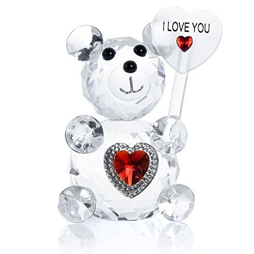 London Boutique Decorative Crystal Teddy Bear New Baby...