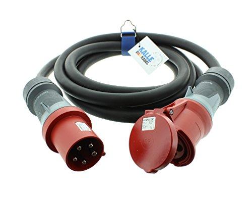 Cable alargador CEE H07RN-F 5G 10,0 mm² 400 V 63 A de...