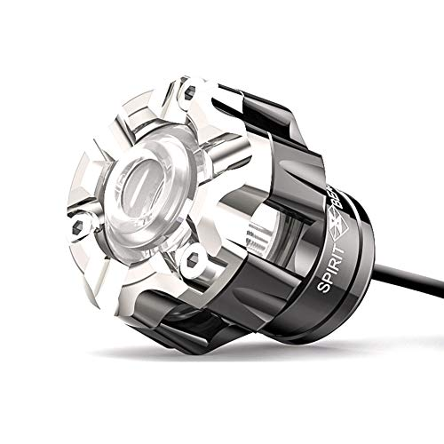 10w Motorrad Spotlight Geführt Fahren,glauben Wasserdichte Motobike-zusatzlampe,motorrad Angel Eyes Licht Zusätzliche Lichter Dekorative Lichter Silber