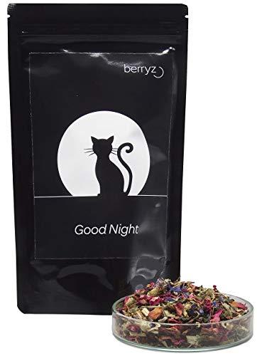 berryz Good Night - 100% natürlich mit Melisse, Passionsblume, Rosenblüten, Lavendelblüten, Süßholz - 60g…