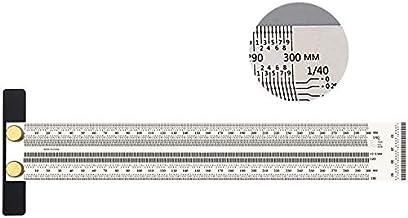 300mm Hoge Precisie T Vierkante Liniaal voor Houtbewerking Markering Roestvrij Scribing Lijn Regel Carpenter Vierkante Mee...