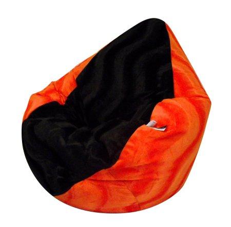 """Sitzsack XL Velboa """"Orange - Black"""" incl. Inlett (Orange-Black)"""