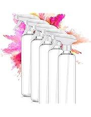 ImnBest 5-pack 500 ml sprayflaskor tomma plastflaskor, fin spray flaska hållbar triggerspray för rengöring, trädgårdsarbete, kök, frisör,