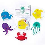 Curious Columbus Non-Slip Bathtub Stickers Pack of 10 Large Sea Creature Decal...