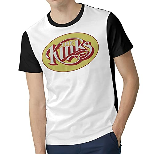 Men Polyester Soft Short Sleeve top The&K^Inks Cool Round Neck T Shirts Suitable for Four Seasons XX-Large Black