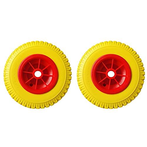 BLTR Fuerte 1 par 8 '' 0.76 '' 330 LBS Reemplazo de la Carga Puncha a Prueba de punción Neumático Amarillo en la Rueda roja Herramienta de Kayak para el Carrito de Canoa de Kayak Durable