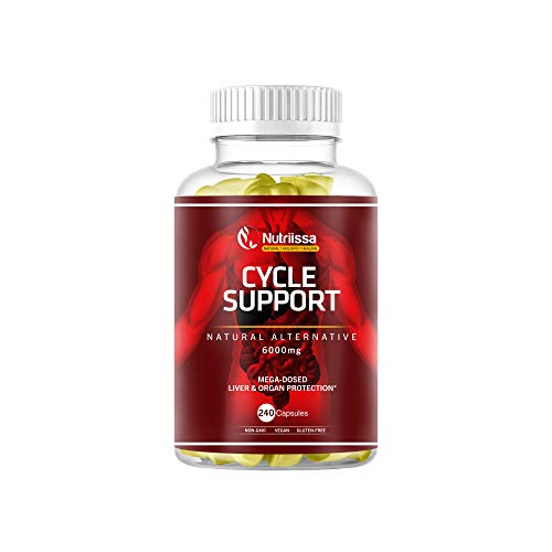 Nutriissa Cycle Support – Premium Liver Protection Supplements for Bodybuilders, Weightlifters & Athletes – Liver and Organ Defender Pills with 525mg of TUDCA – 6000 mg per Serving – 240 Capsules
