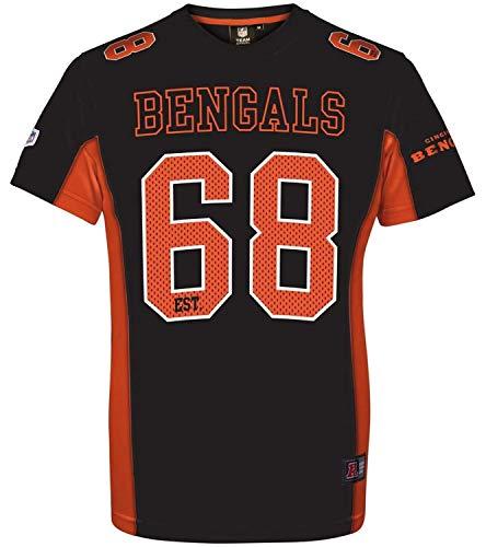 Majestic Moro Poly Mesh Herren NFL Jersey Farbe: Bengals (Schwarz); Größe: XXL