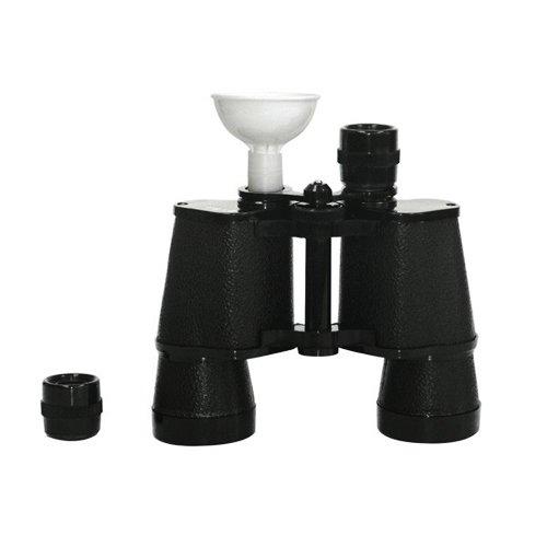 Collins Binocular Flask Hidden Alcohol, Barware Accessory, One Size, Black
