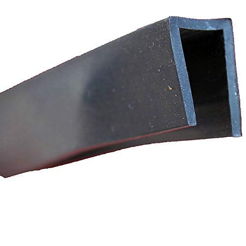 eutras Protector de bordes 1947Capacidad fp3009Protector de cantos Perfil de junta de goma spalt métrica 7,0mm, Negro, 3m