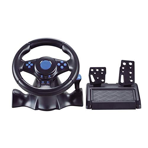 balikha Juego de Conducción Racing Kit de Volante para / 3 PC USB Vibration Black
