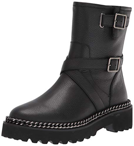 Vince Camuto Women's MESSTIA Motorcycle Boot, Black, 7
