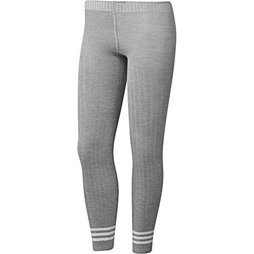 adidas Damen Tight 3 Stripes Leggings, Medium Grey Heather, M