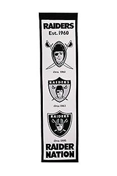 Winning Streak Sports NFL Oakland Raiders Fan Favorite Banner - Vintage Oakland Raiders Wall Decor