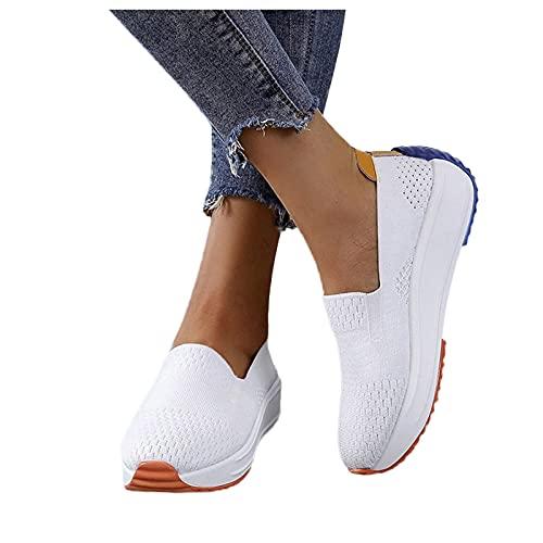 Winging Zapatillas deportivas de plataforma para correr con suela suave y transpirable de malla mujer Calzado mujer Verano Nuevo Calzado deportivo Malla de Color sólido